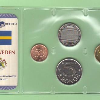 Набор ШВЕЦИЯ из серии - Das Geld Der Welt ( 1 крона юбилейная ) пластик блистер запайка набір ШВЕЦІЯ