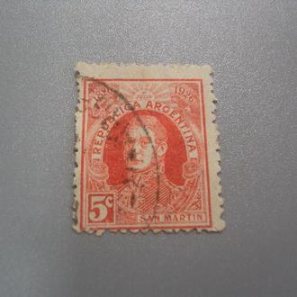 марка Аргентина стандарт личности генерал Сан Мартин гаш №2176