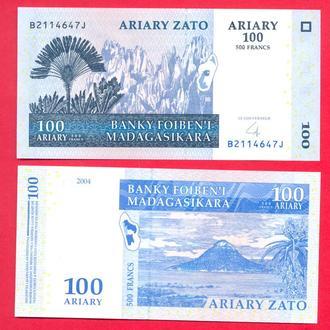 Боны Африка Мадагаскар 100 ариари 2004 г.