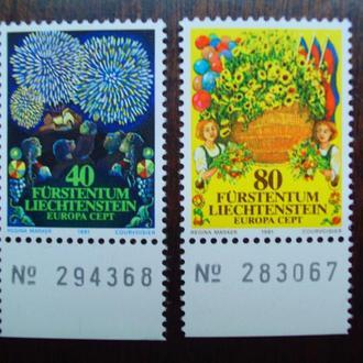 Лихтенштейн.1981г. Флора. Цветы. Полная серия с полями. MNH
