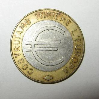 Жетон Евро. Италия.