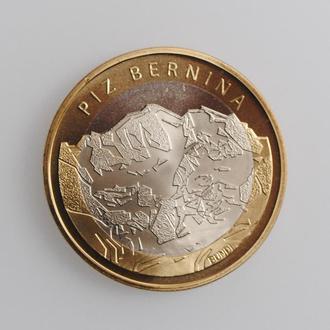 """Швейцария 10 франков 2006 г., BU, """"Гора Пиц Бернина"""""""
