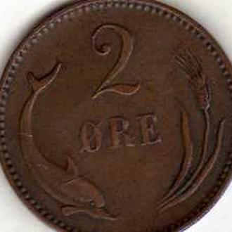 Дания 2 эре 1894г