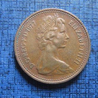 Монета 1 пенни Великобритания 1977