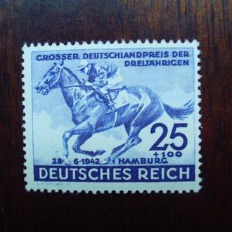 3-ий Рейх.1942г. Конный спорт. Большой приз Германии. Полная серия. MNH