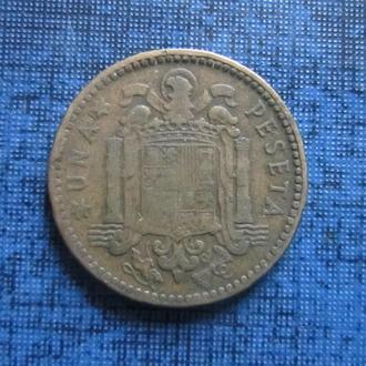 Монета 1 песета Испания 1947