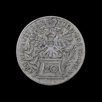 20 Крейцеров 1765 Мария Терезия,(22) Австро-Венгрия