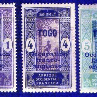Того (1916) Франко-английская оккупация. Надпечатки