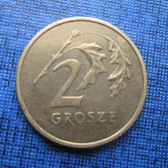 монета 2 гроша Польша 2003