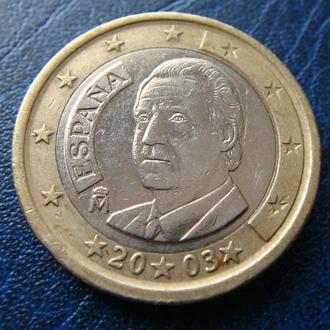 Испания 1 евро 2003