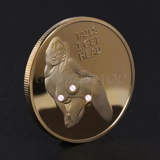 монета сексуальная девушка