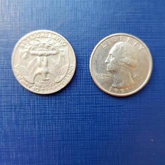 25 центов - Quarter Dollar ¼ - UNITED STATES OF AMERICA - P 1991