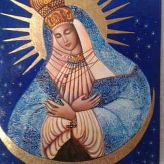 Икона Остробрамская Пр Богородица 20х25см новодел