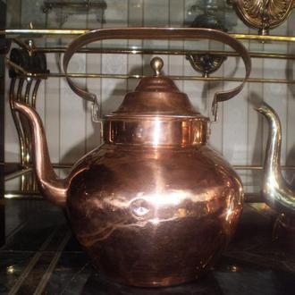 Чайник Старинный Коллекционный Клепаный Медь