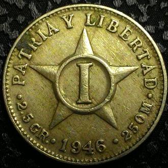 Куба 1 сентаво 1946 год