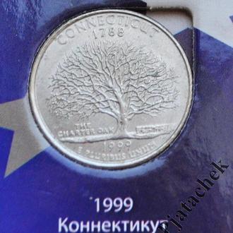 25 центов Коннектикут  1999 г