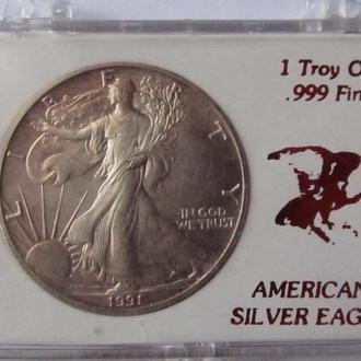 1 доллар 1991г
