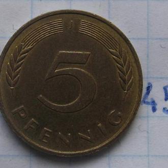 ФРГ, 5 пфеннигов 1984 года (J).
