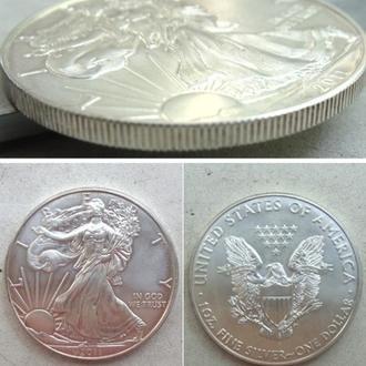 США 1 доллар, 2011г.  Американский серебряный орёл