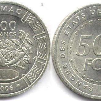 ЦЕНТРАЛЬНО-АФРИКАНСКИЕ ШТАТЫ 500 ФРАНКОВ 2006 UNC