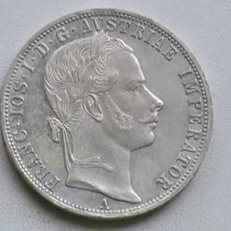 1 Флорін 1860 р А Срібло Австрія 1 Флорин 1860 г А Серебро Австрия 1 Гульден
