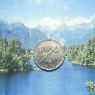 о-ров Фиджи 10центов 1990г