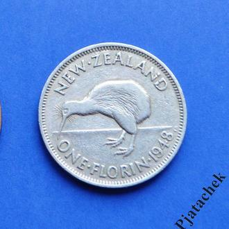 Новая Зеландия 1 флорин 1948 Георг VI