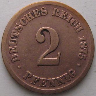 Германия 2 пфеннига 1875 год (B)