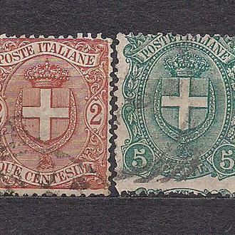 Италия, 1896 г., стандартный выпуск , новый герб