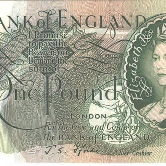 Великобритания 1 фунт  1966-1970г. в UNC