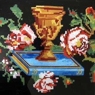 икона ікона на склі стекло Чаша (№585)