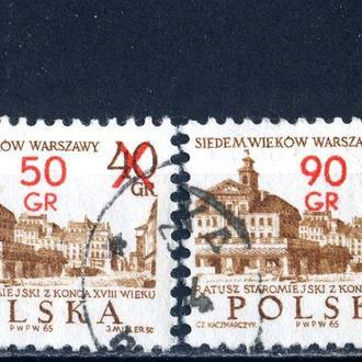 Польша. Архитектура Варшавы №2 (серия, надпечатка) 1972 г.