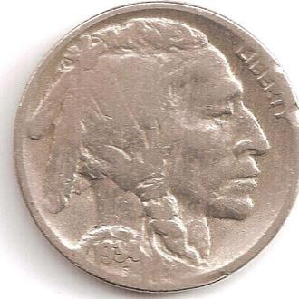 Монета 5 центов (США) 1934 Бизон (Индеец) (1)