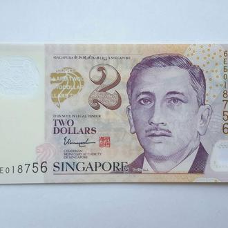 Сингапур. 2 доллара  2017 год (две звезды). Полимер. UNC.