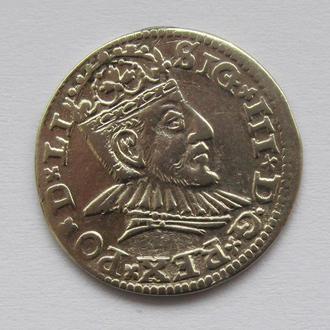 3 гроша 1590г, Сигизмунд III , г. Рига R1