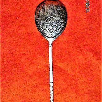 Старинная церковная серебряная ложечка для причастия 1898 год(клеймо)