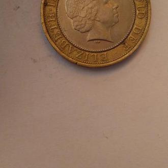 Монета 2 фунта TWO POUNDS (2003) Великобритания