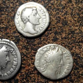 Коллекция 1. Императоры Рима 3шт. денарии серебро