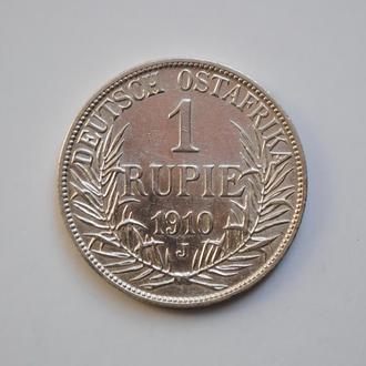 Германская Восточная Африка 1 рупия 1910 г. J, XF, 'Император Вильгельм II (1888 - 1918)'