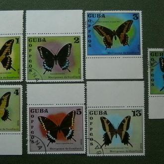 фауна экзотические бабочки серия
