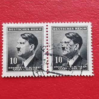 Рейх Богемия и Моравия Гитлер 62 A21 10(h) gray bl
