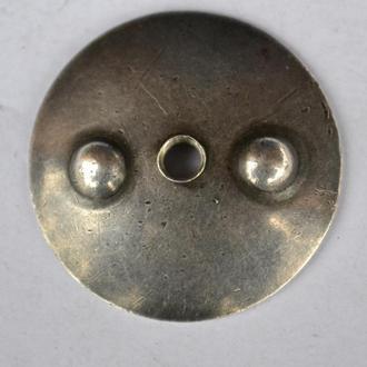 Гайка 2-фланцевая к ордену, серебро, патина