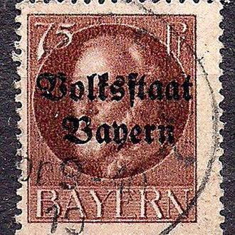Бавария, немецкие земли, 1916-20г г., стандартный выпуск с надпечаткой