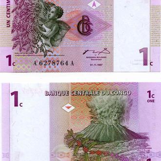 Конго 1 сантим 1997 UNC