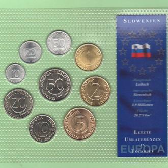 Набор монет СЛОВЕНИЯ блистер запайка набір Словенія пластик