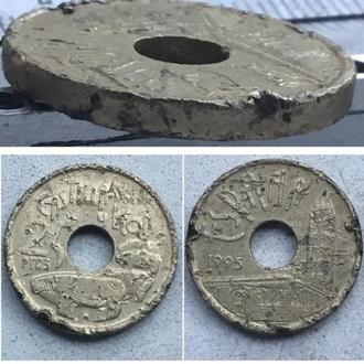 Испания 25 песет, 1995г.  Кастилия и Леон / Король Хуан Карлос I / Алюминиевая бронза