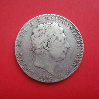 Крона, Великобритания, 1819 г., Георг III, серебро