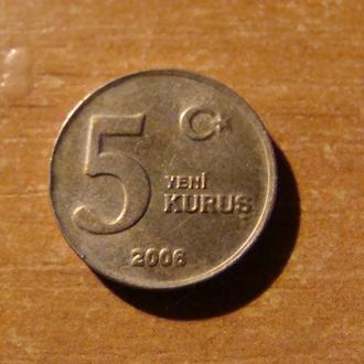 Турция 5 куруш 2006