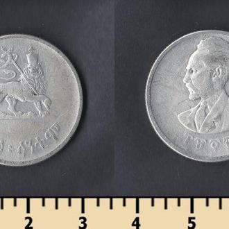 Эфиопия 50 центов 1944