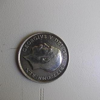 6 пенсов 1914г серебро